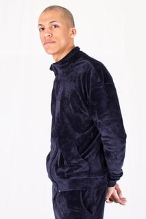 velour jogging jacket - Navy