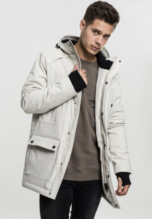 Hooded Heavy Thumbhole Parka - Grå
