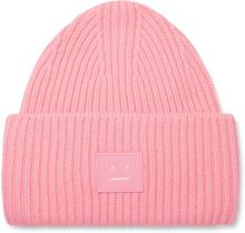 Acne Studios - Logo-appliquéd Ribbed Wool Beanie - Pink