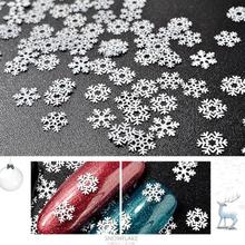 Christmas Snowflake Snow Styles Large White Snowflake Nail Stickers Christmas Snow Nail Stickers 3D Adhesive Sticker
