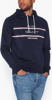 Gant D1. GANT Stripe Sweat Hoodie Gensere Blue