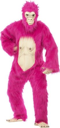 Lyserød gorilladragt voksen One-size - Vegaoo.dk
