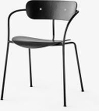 &tradition Pavilion AV2 stol med armlene- Black oak/Black legs