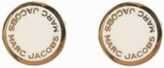 Marc Jacobs Enamel Logo Disc Studs Örhängen Cream