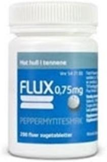Flux sugetab 0,75mg peppmynte-utsolgt