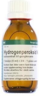 Hydrogenperoksid NAF 3% Konsentrat Til Gurglevann