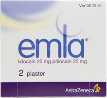 Emla Medisinert Plaster 25/25mg