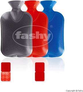 Fashy varmeflaske m/trekk grå