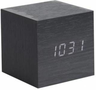 Vækkeur - Karlsson Mini Cube Black Veneer
