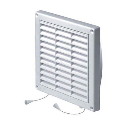 130x130mm væg Ventilation gitter dække netto Pull ledningen lukkere...