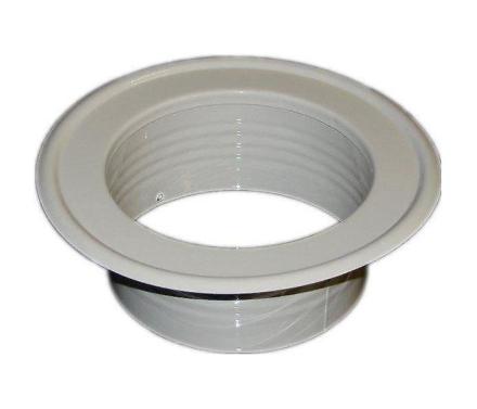 Metal Ventilation klimaanlæggets Pipe vægpladen spidsende hvid 80-2...