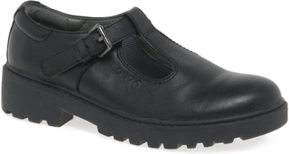 Geox Geox Casey T Bar flickor skolan sko svart UK 13 KID - EU32