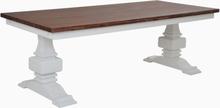 Karlsborg matbord 220 cm - Vit/antikbehandlat