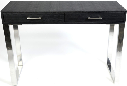 Snake skrivbord - Svart / Krom