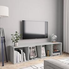 vidaXL Bokhylla/TV-bänk betonggrå 143x30x36 cm