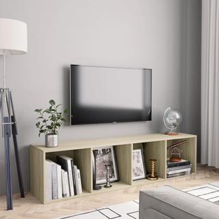 vidaXL Bokhylla/TV-bänk sonoma-ek 143x30x36 cm