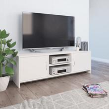 vidaXL TV-taso valkoinen 120x30x37,5 cm lastulevy