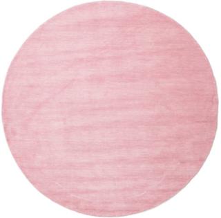 Handloom - Pink teppe Ø 200 Orientalsk, Rund Teppe