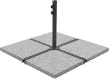 vidaXL Parasollfot med viktplattor grå och svart