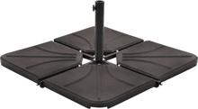 vidaXL Viktplatta för parasoll svart betong fyrkantig 18 kg