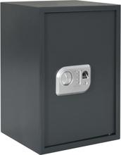 vidaXL Digital safe med fingeravtrykk mørk grå 35x31x50 cm