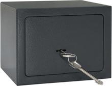 vidaXL Mekanisk safe mørkegrå 23x17x17 cm stål
