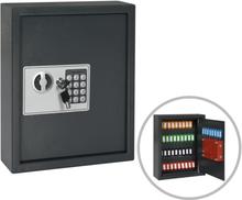 vidaXL Nyckelskåp mörkgrå 30x10x36,5 cm