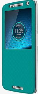 Motorola Flip Shell fall för Motorola Droid Maxx 2 - Torquoise