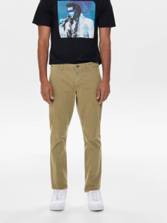 Only&Sons - ONSTARP washed chino pants - Sandfarvet