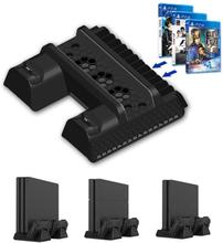 Playstation 4 - Ps4 Dual Kontrolleren Laderen Og Vertikal Kjøling Stå