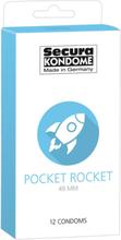 Secura: Pocket Rocket 49 mm, Kondomer, 12-pack