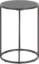 Kiro sort rundt hjørnebord Ø40 cm