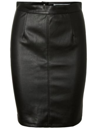 NOISY MAY Imitation Leather Skirt Women Black