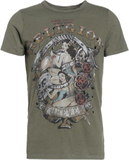True Religion PINUP Tshirt med tryck dusty olive