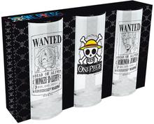 One Piece - Wanted -Drikkeglass - transparent