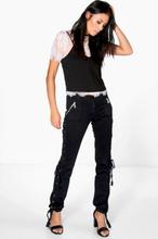 Lauren Lace Up Black Jeans