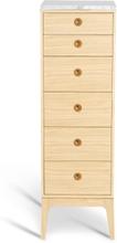 Höllviken byrå 6 lådor vitpigmenterad ek / marmor, Mavis