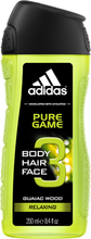 Pure Game Shower Gel, 250ml Adidas Duschcreme