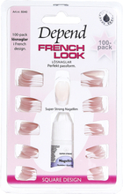 Köp Depend French Look Lösnaglar 100 Pack - 6040, Square Design 100 Nails Depend Lösnaglar fraktfritt