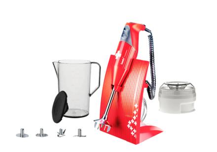 Bamix Swissline XL Rød. 6 stk. på lager