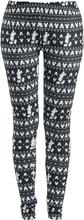 Mickey Mouse - Winter -Leggings - svart, hvit