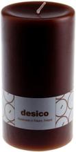 Desico Pöytäkynttilä, 14 cm tummanruskea 3 kpl