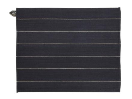 Jokipiin Pellava Liituraita-pefletti 45 x 55 cm, musta