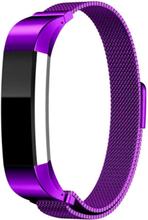 Fitbit Alta klokkereim av rustfritt stål m. magnet - Lilla