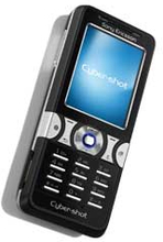 Sony Ericsson k550i front, svart, original