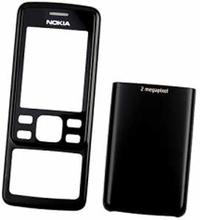 Nokia 6300 skal, svart, original