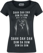 Star Wars - Darth Vader - Dahh Dah Dah Dum Da Dum -T-skjorte - svart