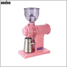 Xeoleo Electric filter coffee machine Ghost teeth Burr grinder 200W Coffee miller Coffee mill machine 10 steps Black/Pink/Yellow