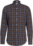 J.CREW HEATHER POPLIN IN RUSTIC PLAID Skjorta navy