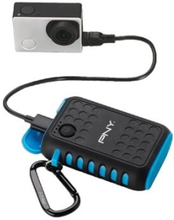 PNY The Outdoor Charger - Strömförsörjningsbank - 7800 mAh - 2.1 A (USB) - på kabel: Micro-USB, mini-USB